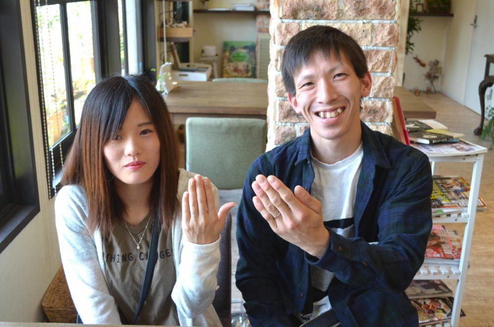福山市引野町の松本様ご夫妻(結婚指輪をご購入)