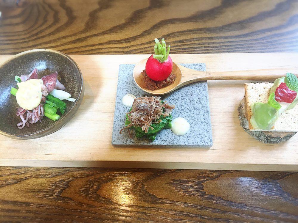 福山市春日町のあぶりの前菜