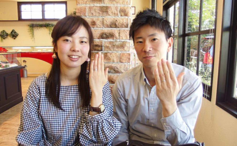広島県府中市の小川様ご夫妻(結婚指輪をご購入)