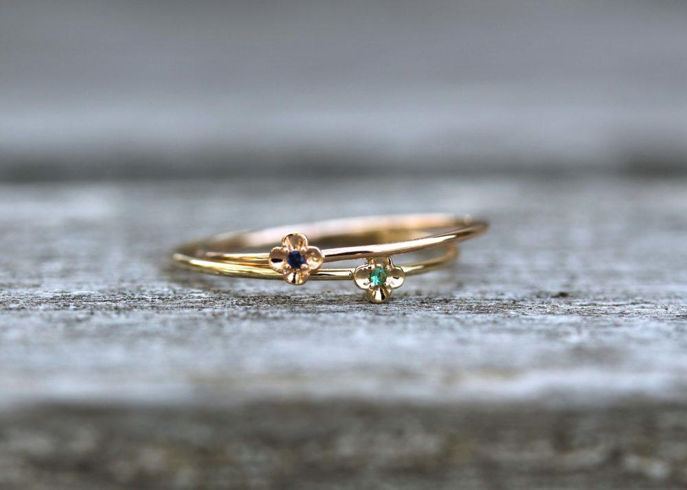 サファイヤ、エメラルドの指輪