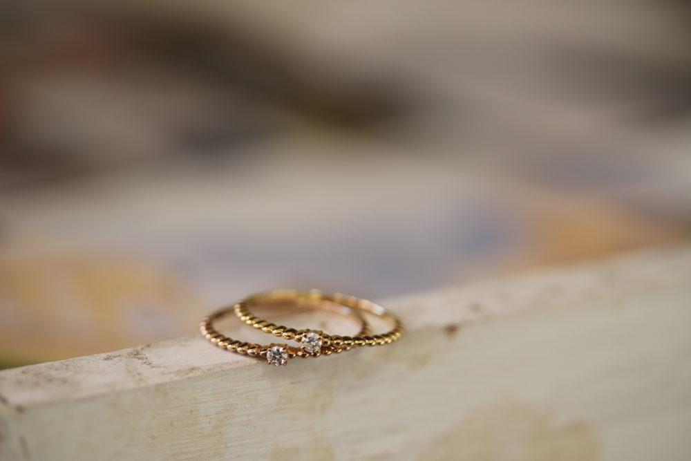 4月誕生石ダイアの指輪