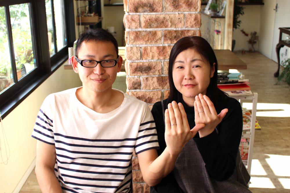 岡山県井原市の斉藤様ご夫妻(結婚指輪をご購入)