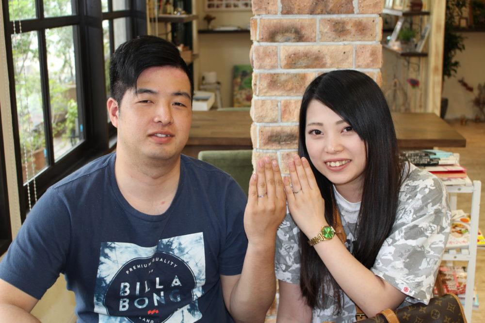 広島県三原市の中井様ご夫妻(結婚指輪をご購入)