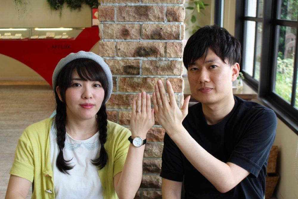 広島県広島市の高松様ご夫妻(結婚指輪をご購入)