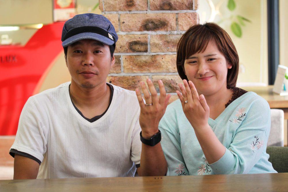 広島県府中市の西元様ご夫妻(マリッジリングをご購入)