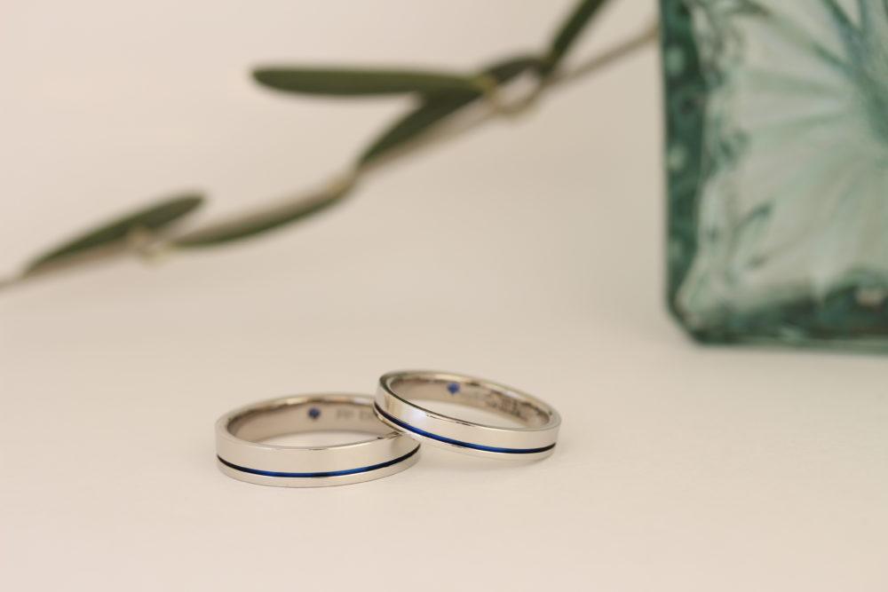 エルドーセレクトブランドの結婚指輪「サムシング・ブルー」」