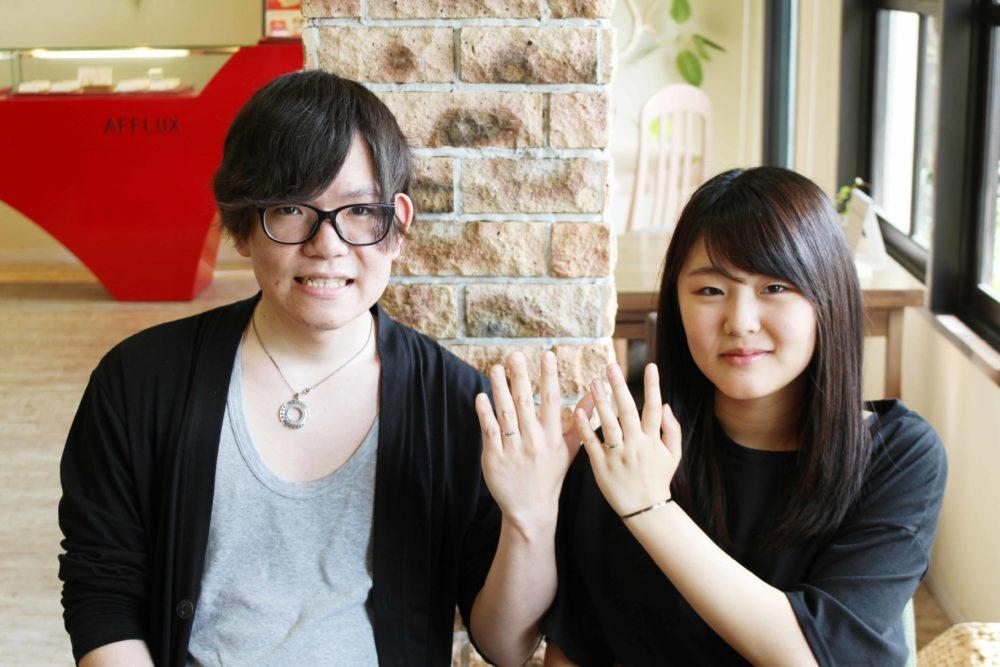 福山市本庄町の牧嶋様ご夫妻(結婚指輪をご購入)