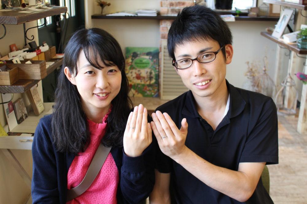 福山市山手町の渡邉様ご夫妻(結婚指輪をご購入)