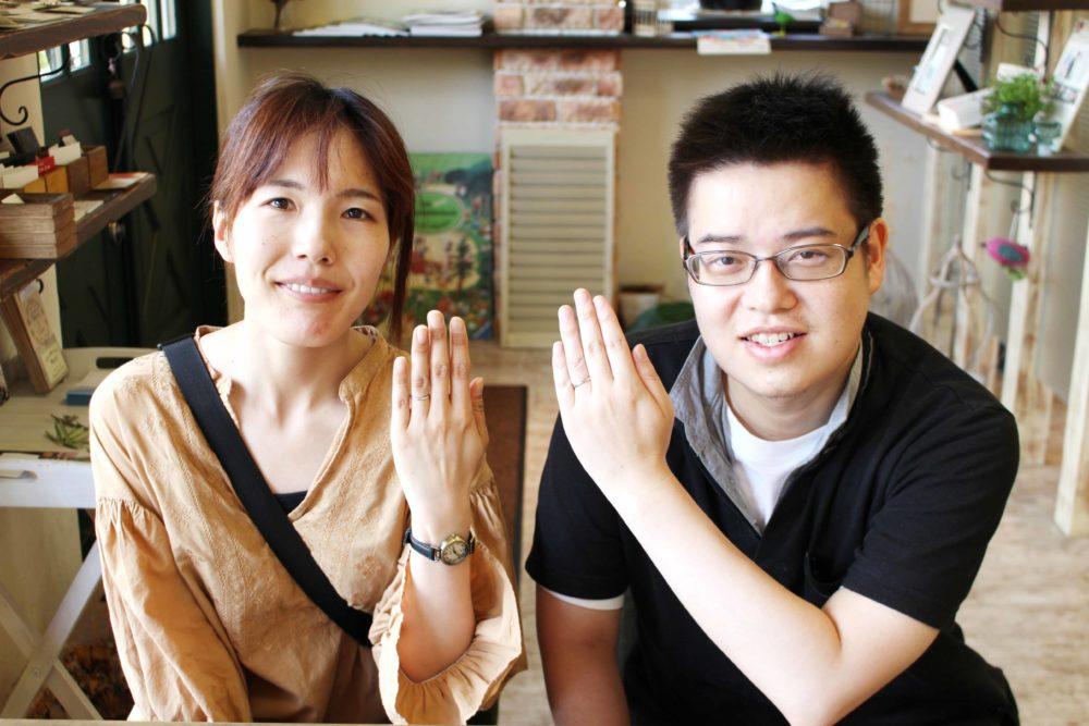 福山市手城町の松浦様ご夫妻(結婚指輪をご購入)