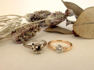 花嫁に祖母や母の婚約指輪を♪