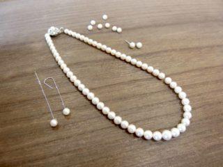 冠婚葬祭の真珠ネックレスからピアスが2つ♪