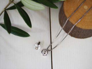 ネックレスのダイヤのイミテーションを本物のダイヤモンドに