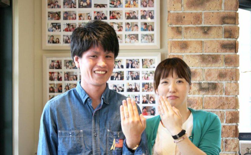 福山市駅家町の木村様ご夫妻(結婚指輪をご購入)