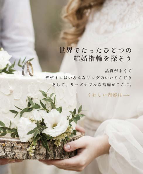 世界でたったひとつの結婚指輪を探そう
