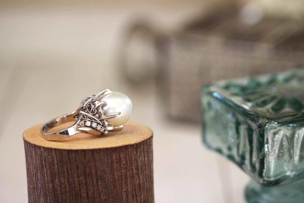 おばあちゃんのパールの指輪をリフォーム