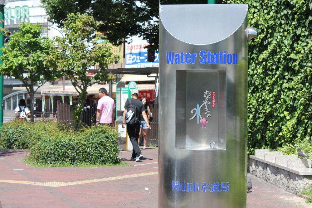 岡山駅に常設してあるのは、桃ジュース蛇口ではなく・・・