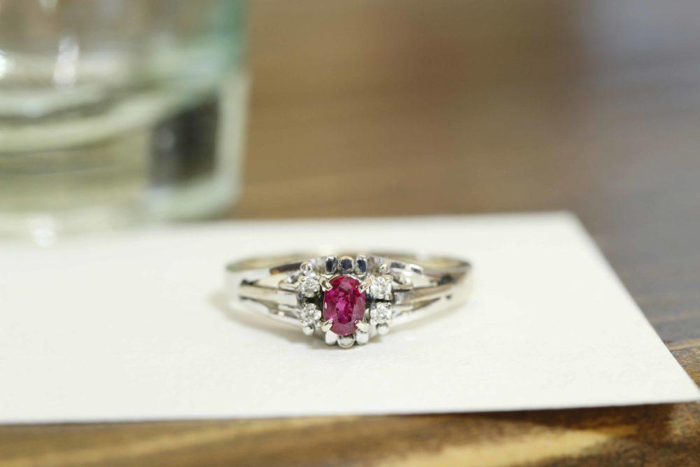 おばあちゃんからもらったルビーの指輪をリフォーム