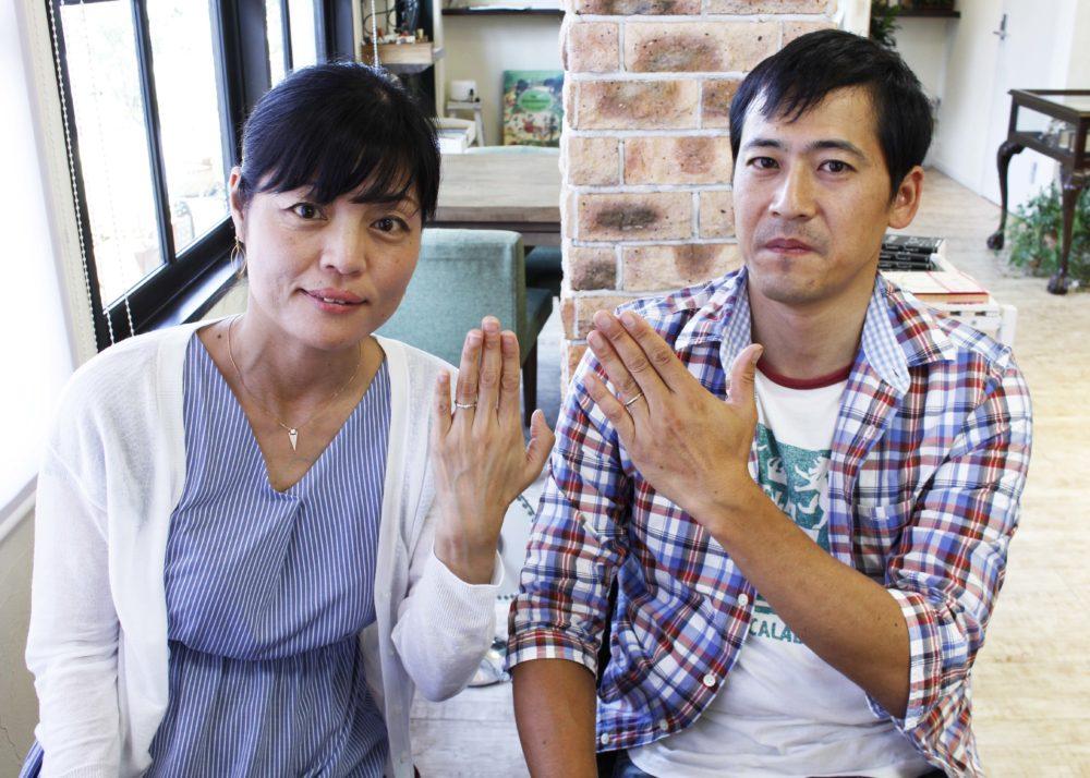 岡山県笠岡市の土師様ご夫妻(マリッジリングをご購入)