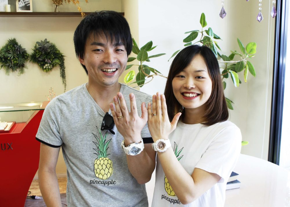 福山市駅家町の藤本様ご夫妻(結婚指輪をご購入)