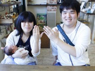 福山市神島町の中村様ご夫妻(結婚指輪をご購入)