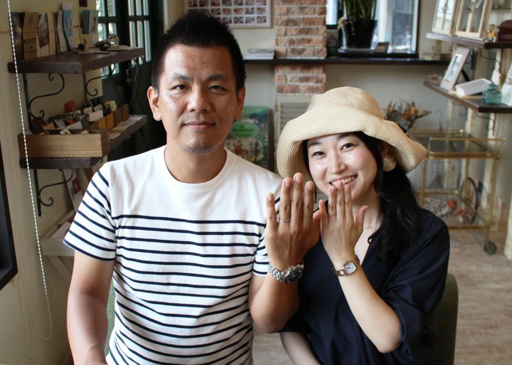 広島県広島市の渡辺様ご夫妻(結婚指輪をご購入)