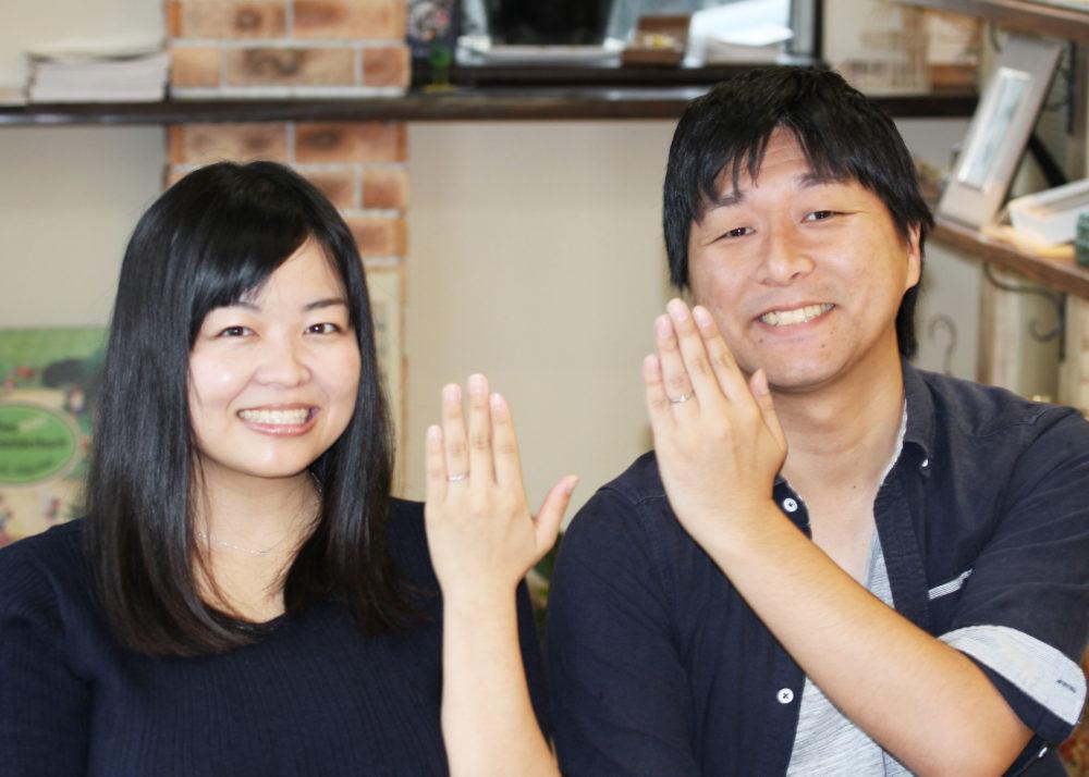 広島県広島市の戸村様ご夫妻(結婚指輪をご購入)