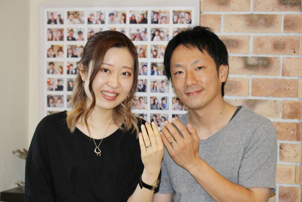 広島県尾道市の三田様ご夫妻(結婚指輪をご購入)