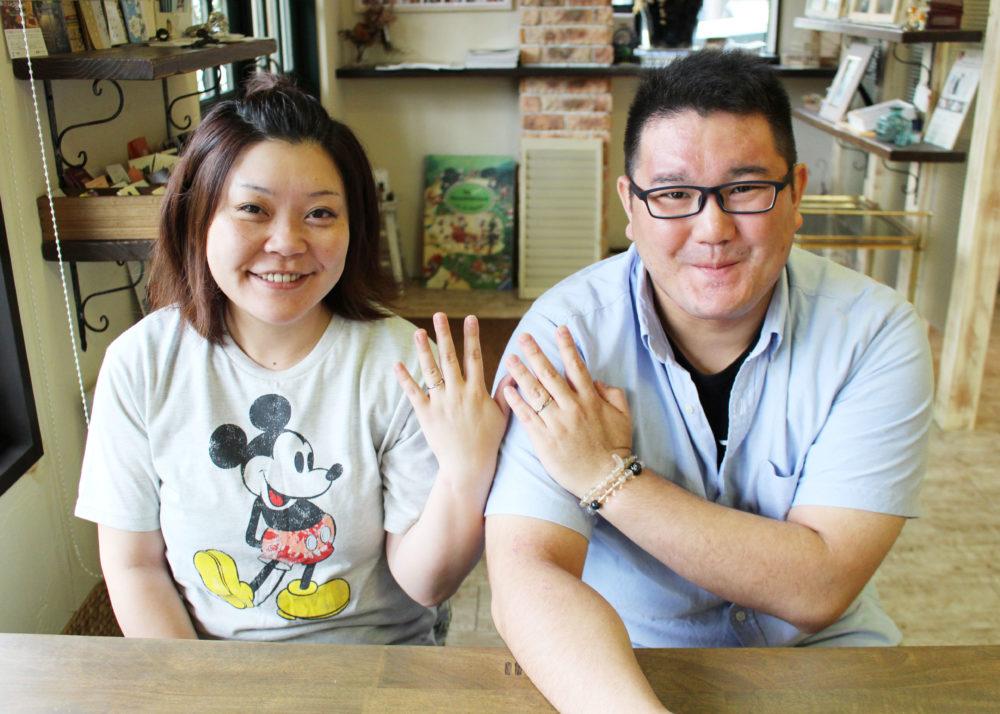 福山市春日町の角谷様ご夫妻(結婚指輪をご購入)