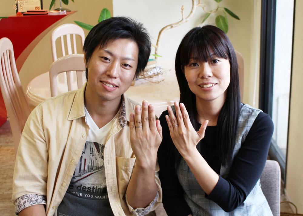 広島県尾道市の平山様ご夫妻(結婚指輪をご購入)