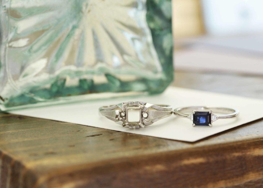 祖母からの指輪が華奢な指輪に