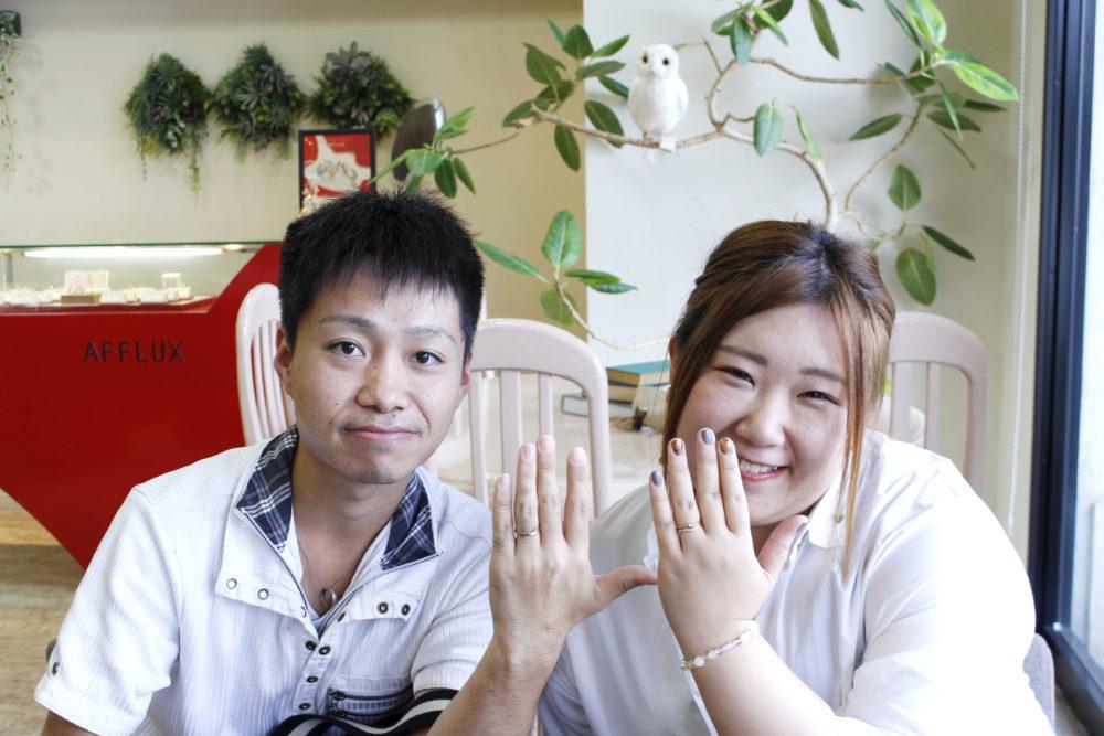 岡山県総社市の畑様ご夫妻(マリッジリングをご購入)