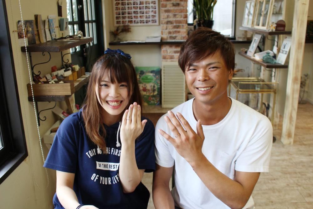 愛媛県越智郡の森本様ご夫妻(結婚指輪をご購入)