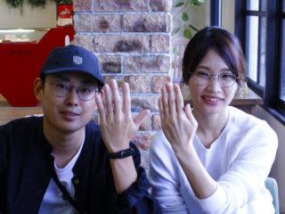 福山市水呑町の藤村様ご夫妻(結婚指輪をご購入)