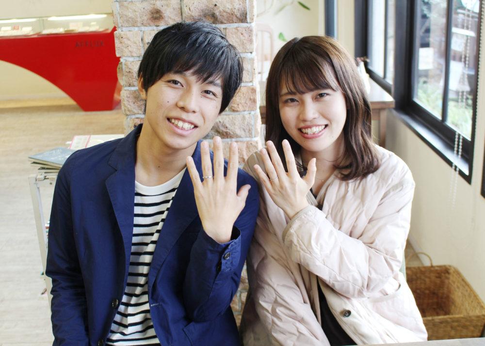 広島県広島市の出口様ご夫妻(結婚指輪をご購入)