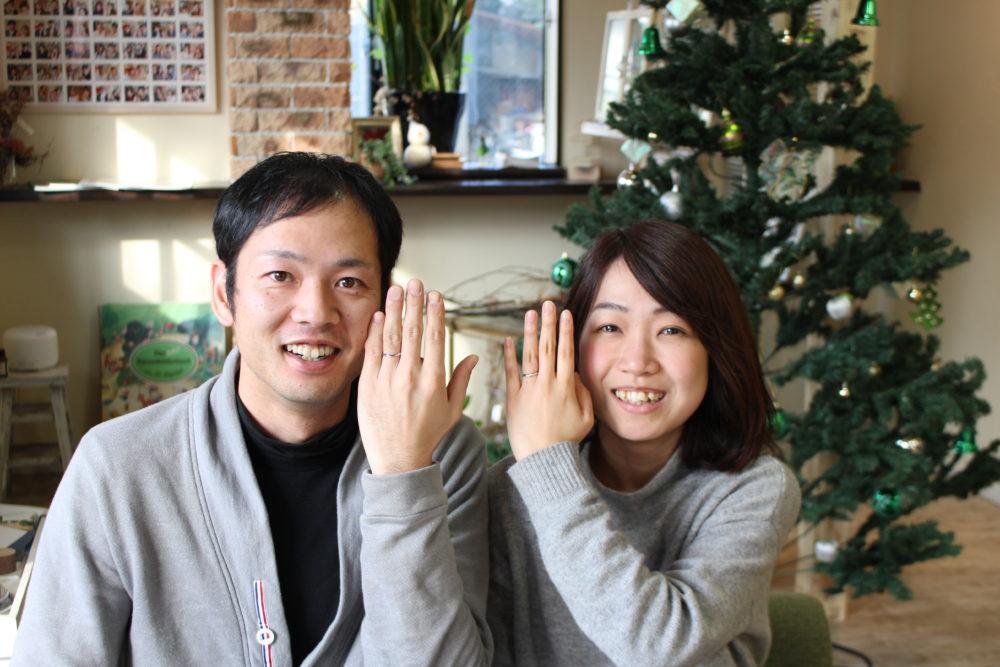 福山市千田町の瀧口様ご夫妻(結婚指輪をご購入)