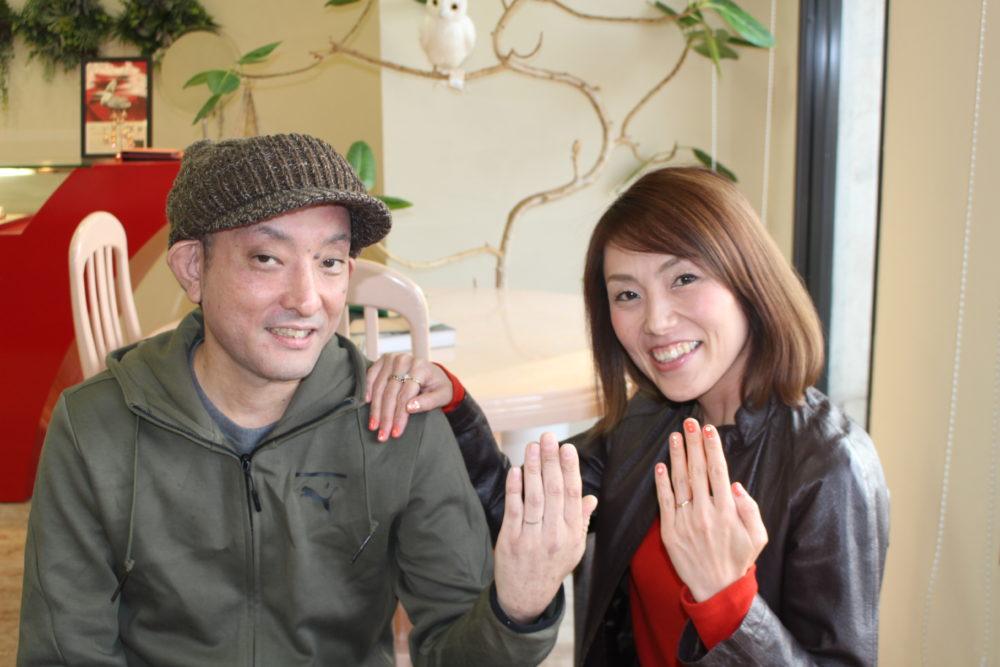 福山市新市町の大戸様ご夫妻(結婚指輪をご購入)