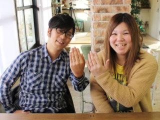広島県三原市の金子様ご夫妻(マリッジリングをご購入)