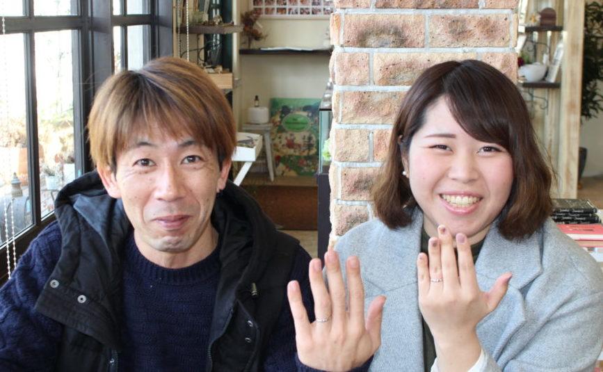 広島県尾道市の藤井様ご夫妻(結婚指輪をご購入)