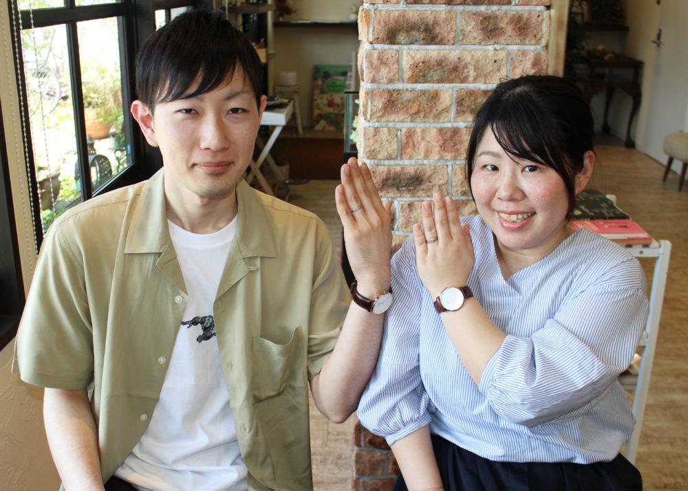 福山市加茂町の宮内様ご夫妻(結婚指輪をご購入)