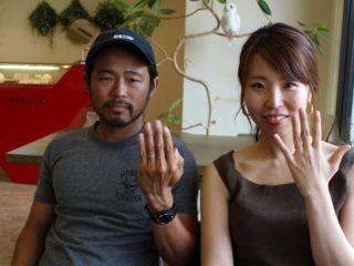 福山市神辺町の小林様ご夫妻(結婚指輪をご購入)