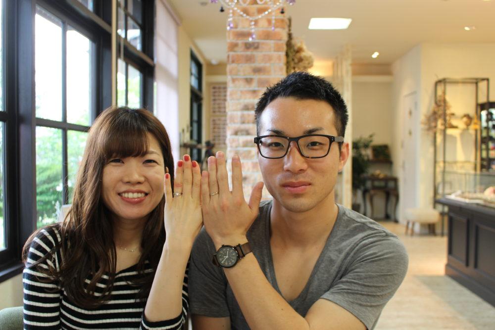 福山市瀬戸町の佐々木様ご夫妻(結婚指輪をご購入)