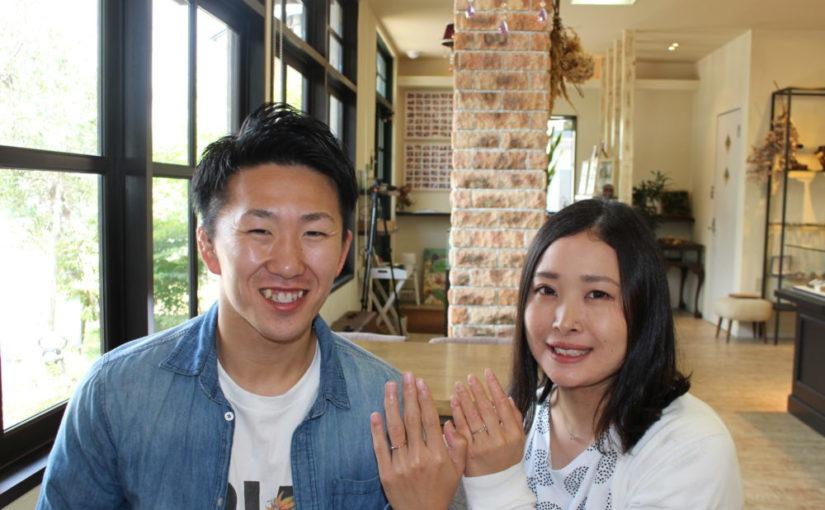 岡山県岡山市の守屋様ご夫妻(セットリングをご購入)