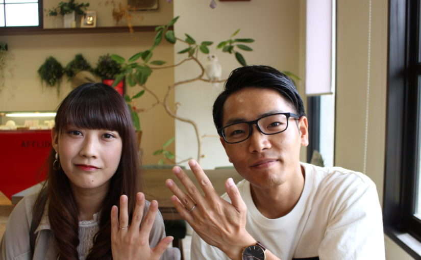 福山市水呑町の神川様ご夫妻(結婚指輪をご購入)
