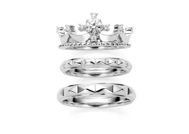 王冠モチーフの指輪言葉があるエルドーセレクトブランドアフラックス/AFFLUX『コロナ /君に会えた奇跡』