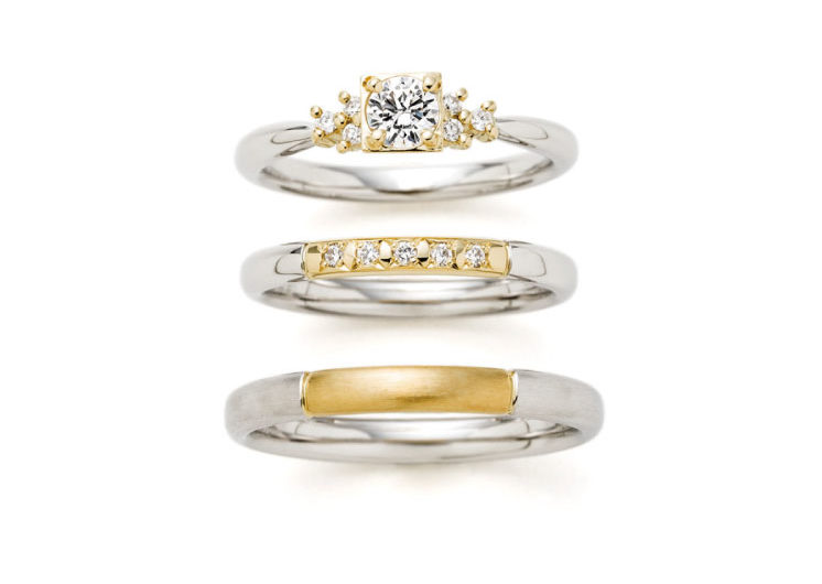 満点の星空モチーフの指輪言葉があるエルドーセレクトブランドアフラックス/AFFLUX『ステラ/星に願いを』