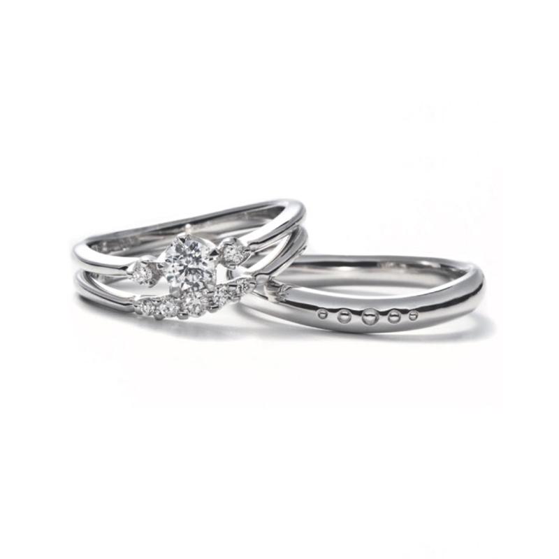 ジャスミンの花モチーフの指輪言葉があるエルドーセレクトブランドアフラックス/AFFLUX『ジャスミン/愛しき人』