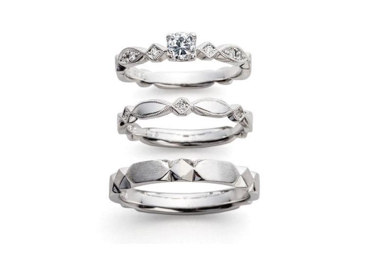 アンティークタイルモチーフの指輪言葉があるエルドーセレクトブランドアフラックス/AFFLUX『テゾーロ/わたしの宝物