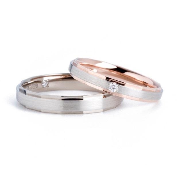 二層のコンビとカットのラインがさりげなくキラキラさせてくれる結婚指輪 Twins Cupid/ツインズキューピッド