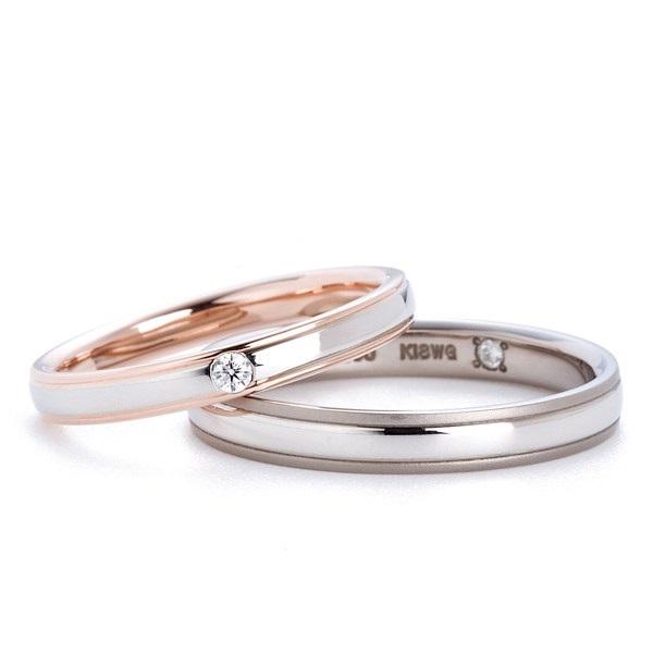 甲丸のやわらかいシルエットにコンビの結婚指輪 Twins Cupid/ツインズキューピッド
