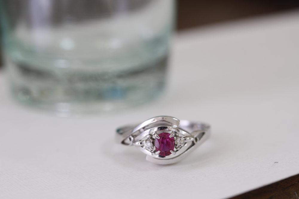ルビーの指輪のリフォーム